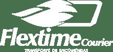 Logo versão branca da Flextime Courier